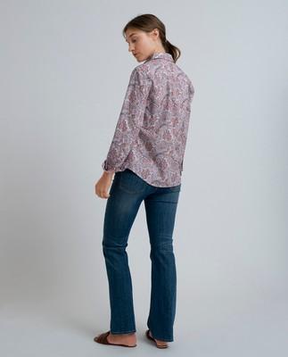 Emily Poplin Shirt, Paisley Print