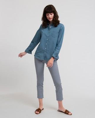 Emily Denim Shirt, Lt Blue Denim