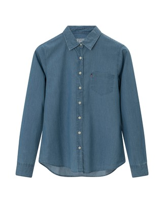 Emily Denim Shirt, Lt Blue Denim