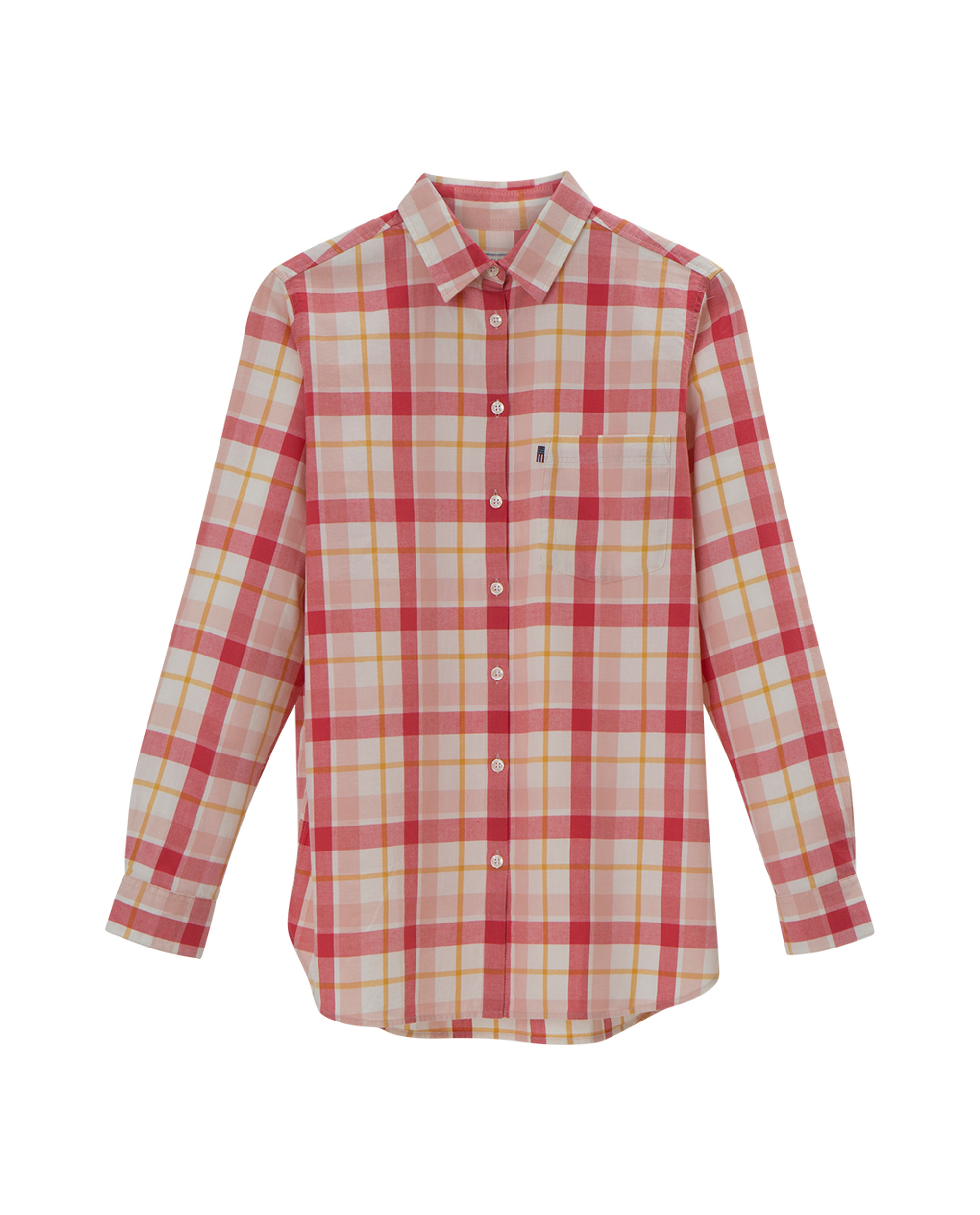 Isa Flannel Shirt, Pink Multi