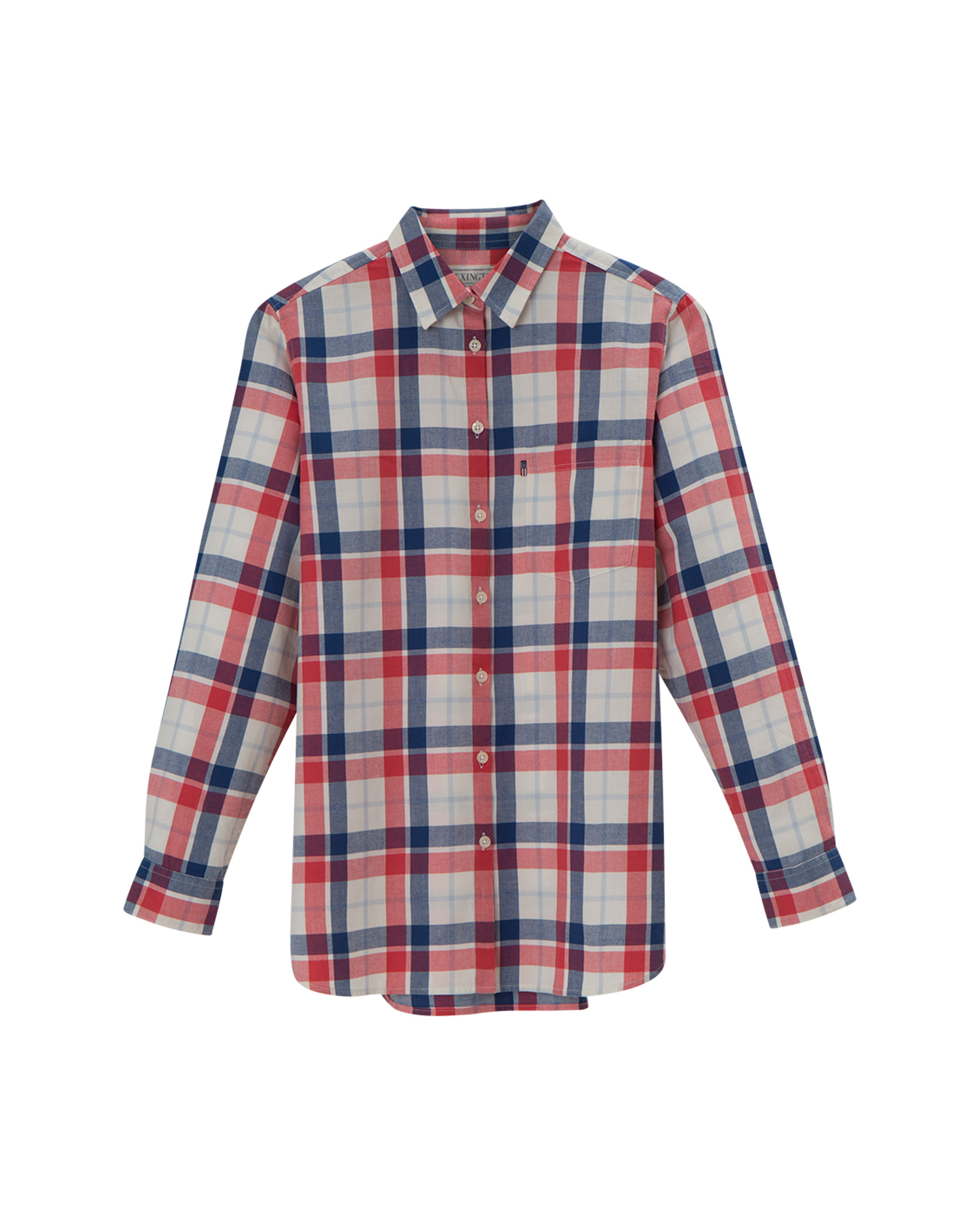 Isa Flannel Shirt, Blue Multi