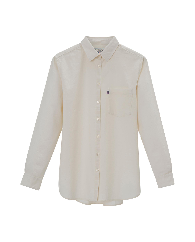 Isa Flannel Shirt, Bone White