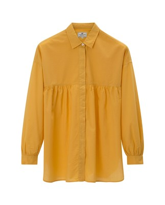 Carrie Cotton Voile Blouse, Mineral Yellow