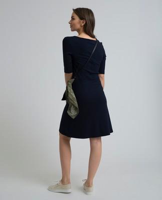 Scarlett U-neck Dress, Navy Blue