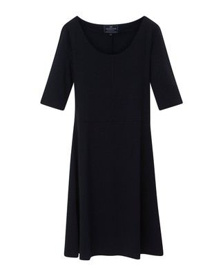 Scarlett U-neck Dress, Navy Blue