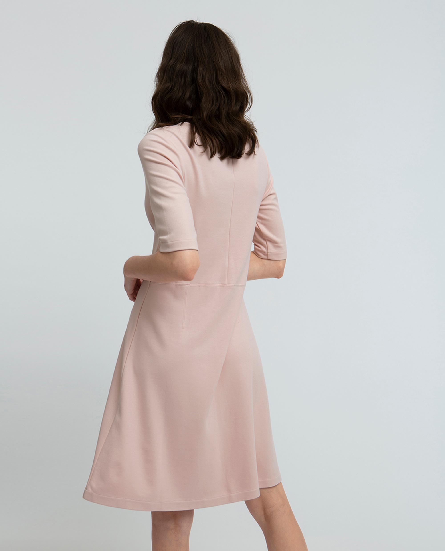 Scarlett U-neck Dress, Seashell Pink