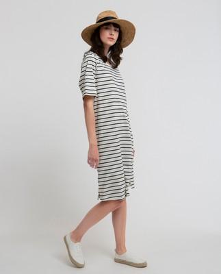 Blossom Dress, White/Blue