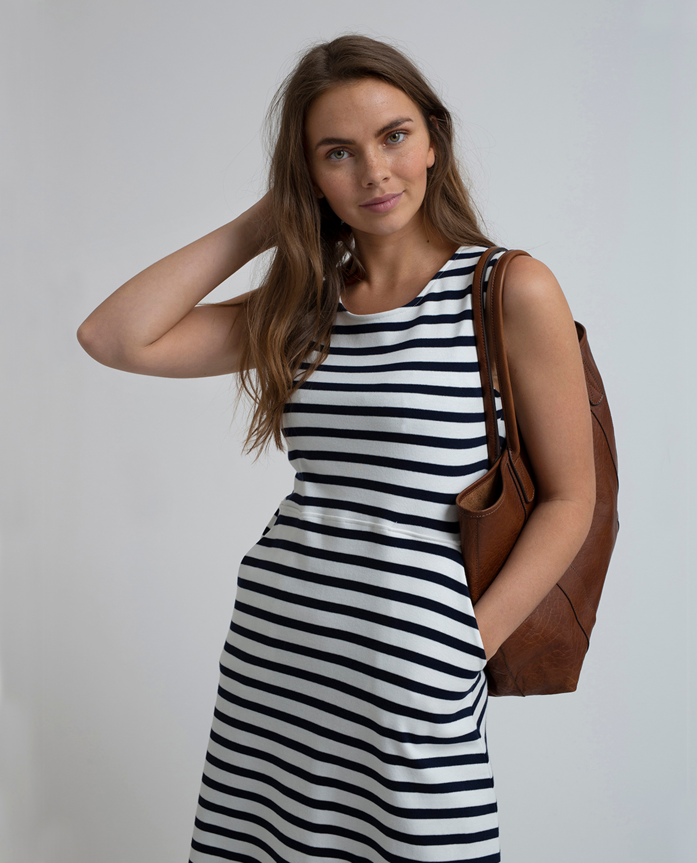 3b24c31176d96 Gemma Jersey Dress, Blue/White