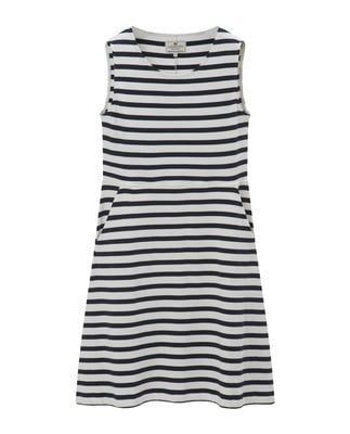 Gemma Jersey Dress, Blue/White