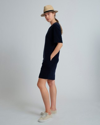 Cory Terry Dress, Navy Blue