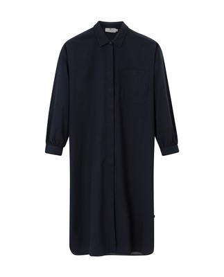 Marlowe Cotton Voile Dress, Navy Blue