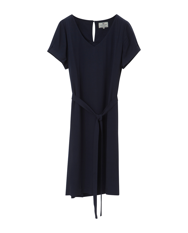 Kristina Solid Dress, Navy Blue