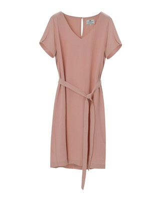Kristina Solid Dress, Mellow Rose