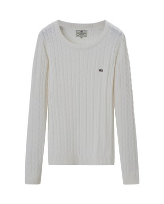 Felizia Cable Sweater, Bright White