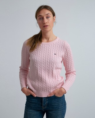 Felizia Cable Sweater, Rose Shadow