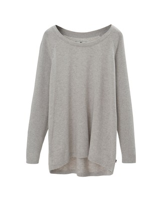 Lea Cotton/Cashmere Sweater, Light Gray