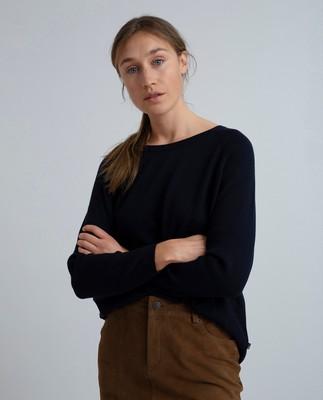 Lea Sweater, Deep Marine Blue