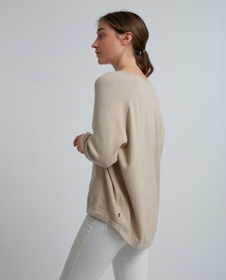 Lea Cotton/Cashmere Sweater, Beige