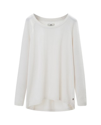 Lea Cotton/Cashmere Sweater, Bright White