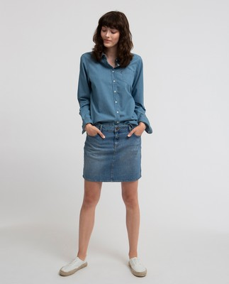Alexa Blue Denim Skirt