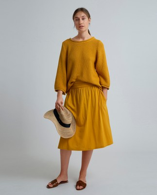 Jenni Jersey Skirt, Mineral Yellow