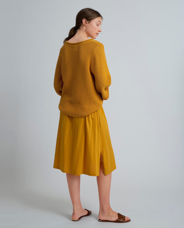 Jenni Jersey Skirt, Mineral Yellow