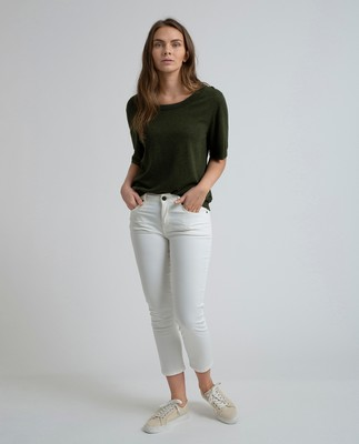 Zoe Solid Pants, Bright White
