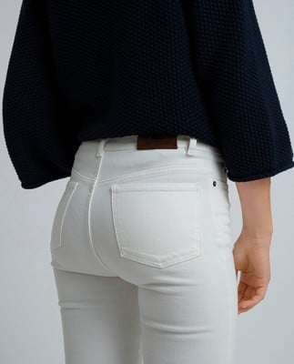 Shelley Bootcut White Jeans