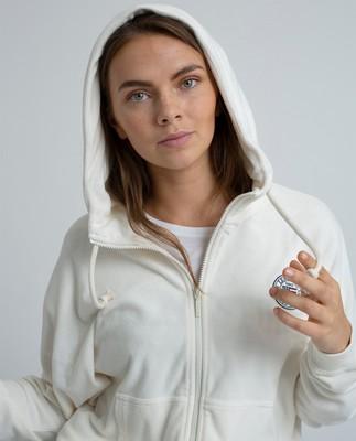 Carolin Terry Hoodie, Gardenia White
