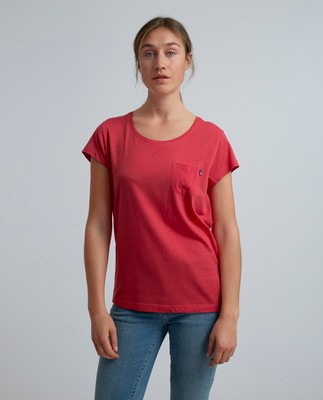 Ashley Jersey Tee, Vintage Red