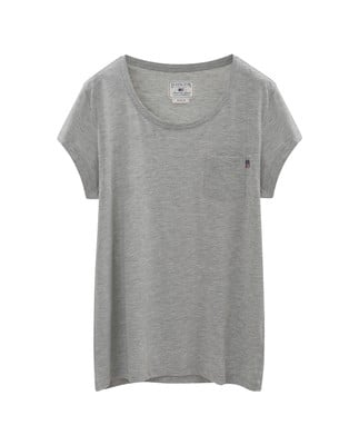 Ashley Jersey Tee, Light Gray