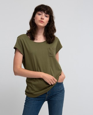 Ashley Jersey Tee, Savanna Green