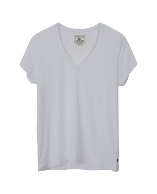 Becka V-neck Tee, Bright White