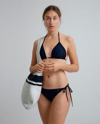 Stephanie Bikini Top, Blue