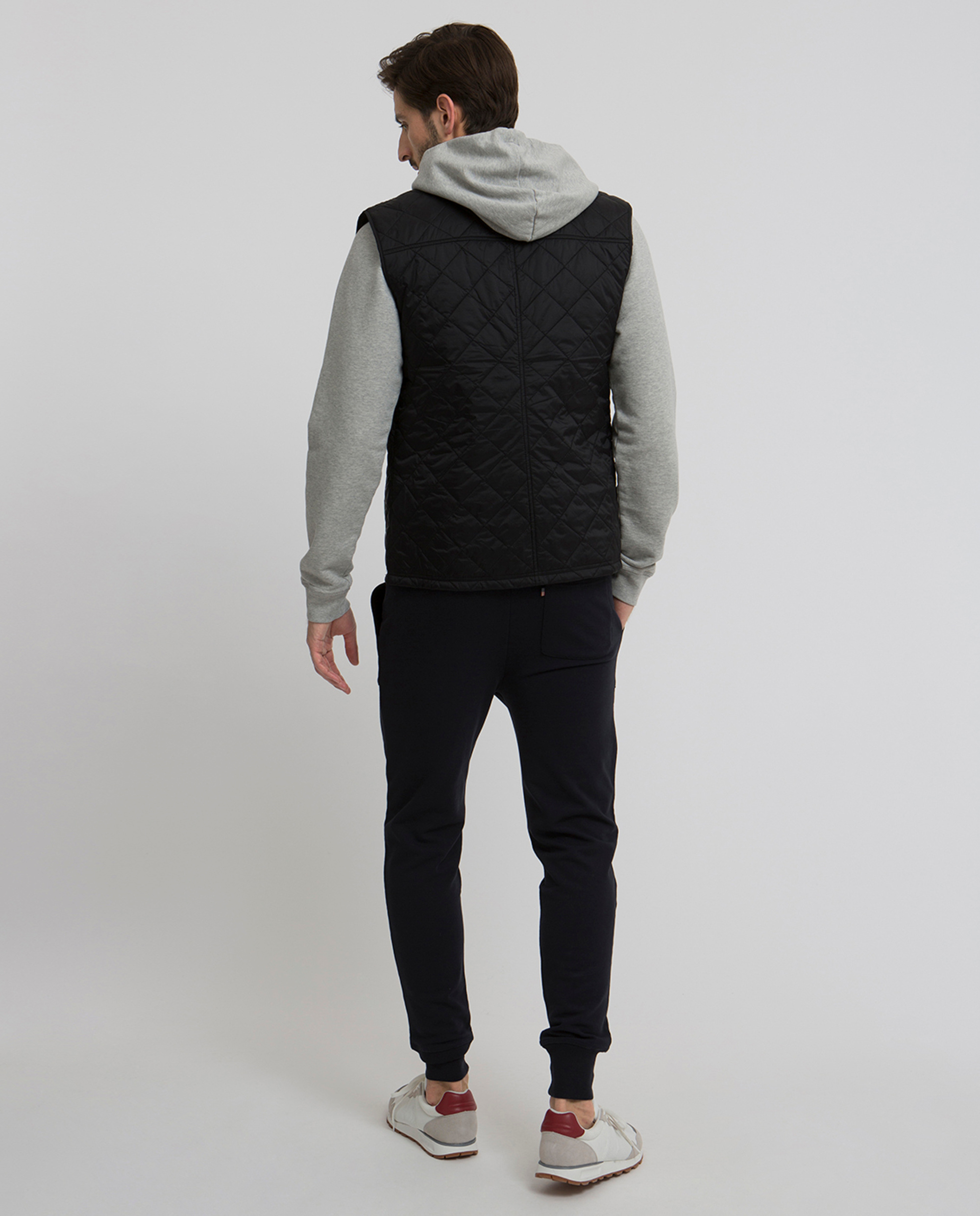 Gregory Quilted Vest, Caviar Black