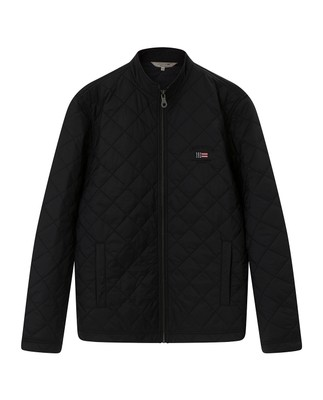 Hector Quilted Jacket, Caviar Black