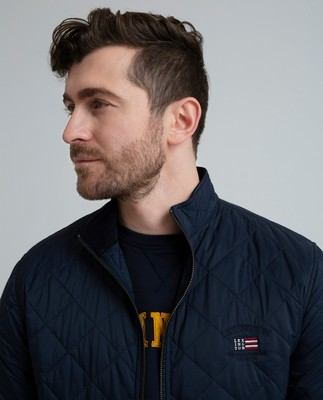 Hector Quilted Jacket, Navy Blue