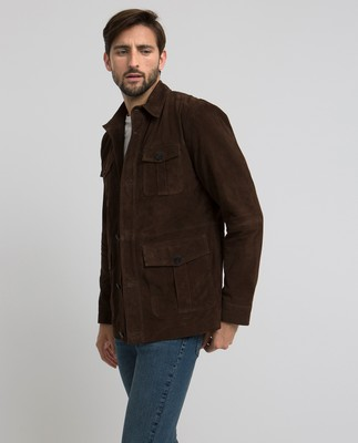 Leo Suede Jacket, Dark Brown