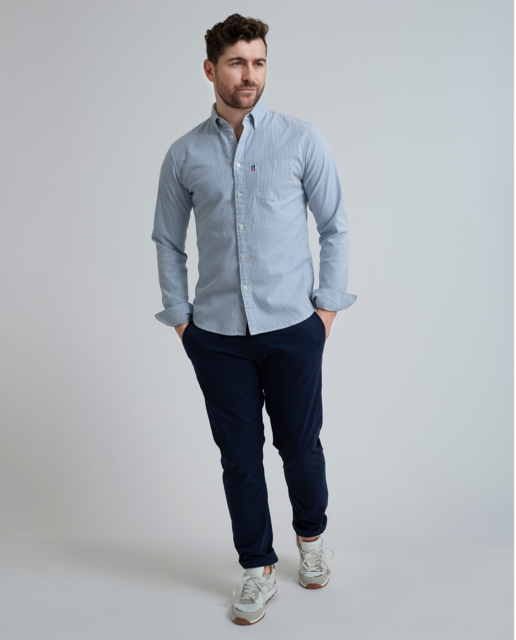 Kyle Oxford Shirt, Classic Blue/White