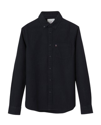 Kyle Oxford Shirt, Caviar Black