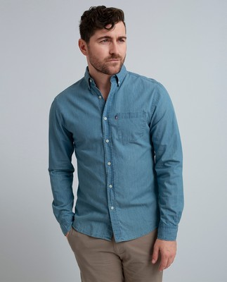 Clive Denim Shirt, Light Blue
