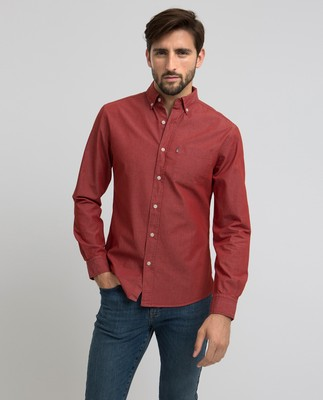 Clive Denim Shirt, Red