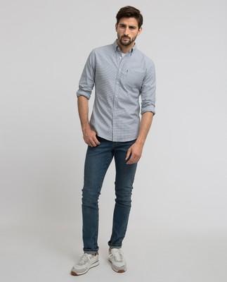 Marc Oxford Stretch Shirt, Blue/White