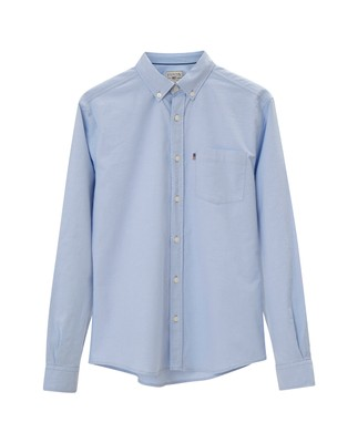 Marc Oxford Stretch Shirt, Light Blue