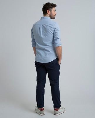 Marc Oxford Stretch Shirt, Light Blue