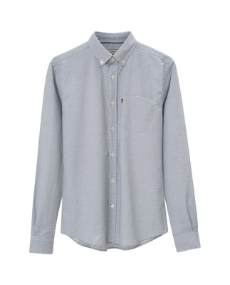 Marc Oxford Stretch Shirt, Blue/White