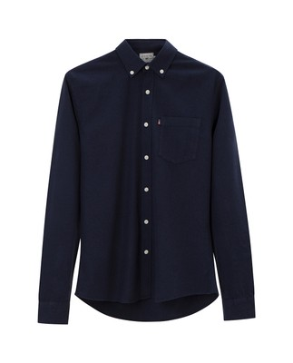 Peter Lt Flannel Shirt, Navy Blue