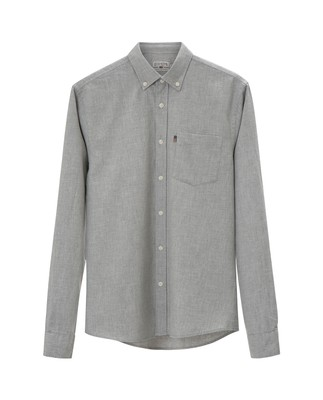 Peter Lt Flannel Shirt, Light Gray