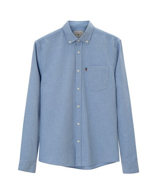 Peter Lt Flannel Shirt, Light Blue