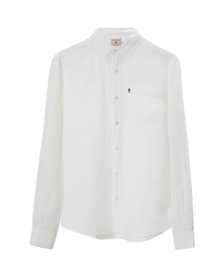 Ryan Linen Shirt, Bright White